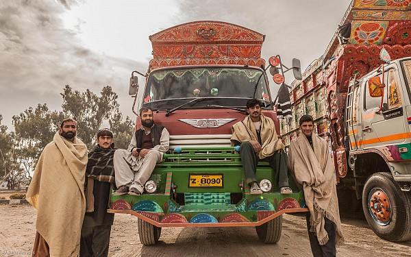 While on a quick trip outside of Islamabad we made a quick stop at a gas station along a major trucking route. We came upon a massive parking lot of the famous